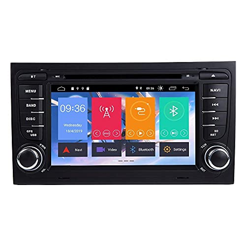 Android 9.0 Car Radio Car Stereo Navegación GPS Reproductor multimedia para automóvil de 7 pulgadas Unidad principal de doble din para Audi / A4 / S4 / RS4 / Seat Exeo Soporte Pantalla Espejo WiFi OBD