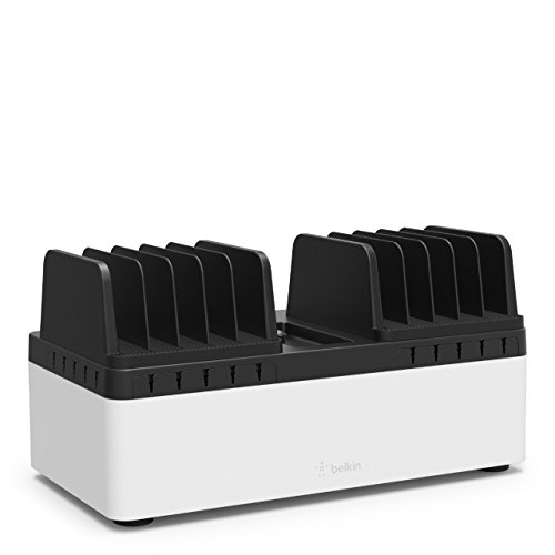 Belkin Store and Charge Go w/ Fixed Dividers (AC Classroom Charging Station for Laptops, Tablets) (B2B141)