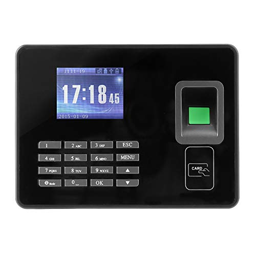 Tosuny 2,8 Zoll LCD biometrische Fingerabdruck-Stempeluhr-Maschine 1000 Fingerabdruck-Kapazität TCP/IP/USB biometrische Angestellt-Anwesenheits-Maschine(EU-Stecker)