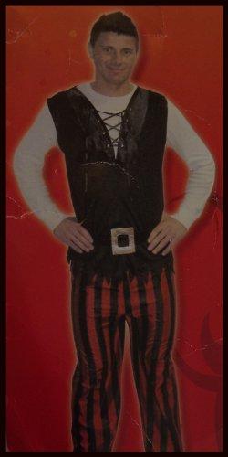 Karnevalskostüm Pirat Kostüm Kleidung Piratenkostüm Karneval Fasching Gr. L rot schwarz**NEU & OVP**
