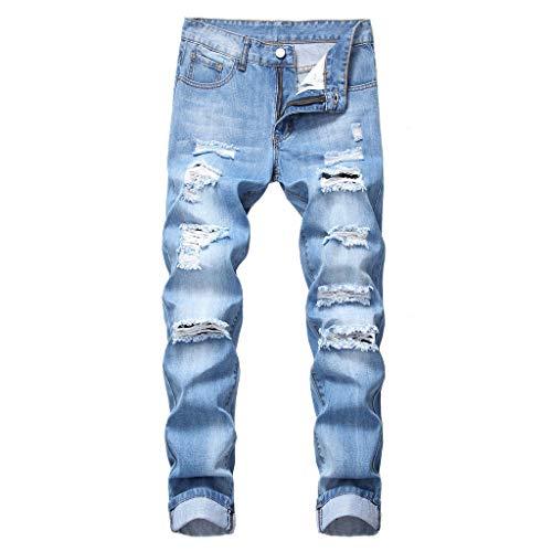 FRAUIT Pantaloni Uomo Jeans Skinny Strappati Plus Size Oversize Pantalone Uomini Inverno Estivo Elasticizzato Pantaloni Ragazzo Elegante Taglie Forti Pantaloni Denim Pantaloni Lavoro con Tasche