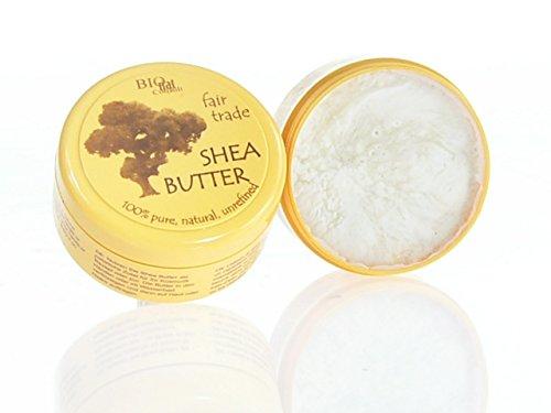 fair shea - Shea Butter unraffiniert 100{6d9184634fc3e722b63c6943ce57b86d5171e12939e358b05cc07083946e3d30} pur fair gehandelt (150g Dose)