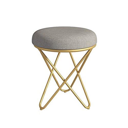Otomanas Heces pequeñas europeas cambio de zapatos taburete taburete taburete taburete salón taburete de ocio nórdico creativo moderno silla taburete simple taburete de piano ( Color : Gold )