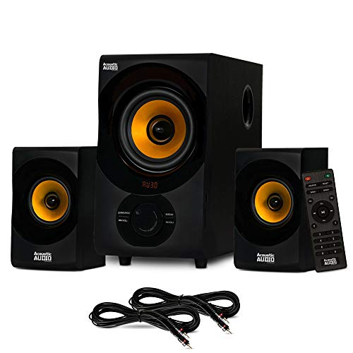 Acoustic Audio AA2170 Bluetooth 2.1 Home Speaker System with USB and 2 Extension Cables