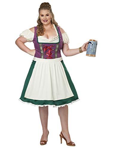 California Costumes Women's Size Bavarian Beer Maid Adult Costume, Purple/Green, Plus 3X (22-24)