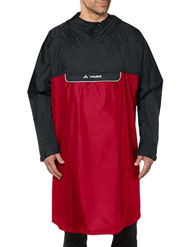 VAUDE '03717 Wheeled Poncho Indian Red FR : XL (Taille Fabricant : XL)