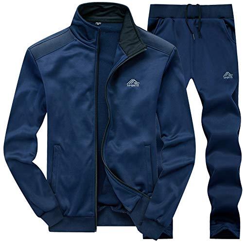 MANLUODANNI Ensemble Survêtement Homme Pantalon Sweat Jogging 2019 Set Bleu S