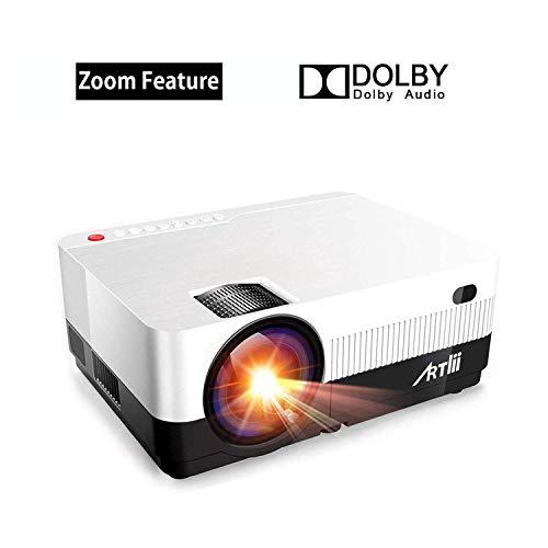 Vidéoprojecteur avec Fonction Zoom - Artlii Projecteur Portable HD, Compatible 1080p, Mini...