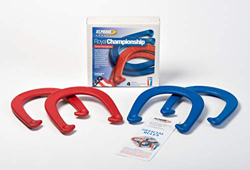 St Pierre Sports Royal Horseshoe Set, Red/Blue