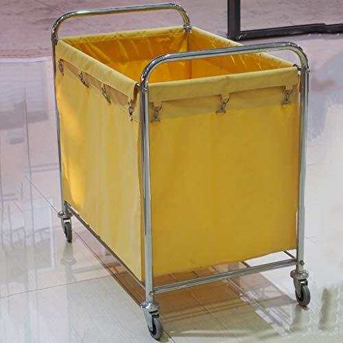 ZHAO-Hotelwagen Küchen-Servierwagen Hotelzimmer-Edelstahl-Laufkatzen-Reinigungswagen-Reinigungskarren-Beutel-Kundendienst-Auto Wagen mit Weinregal (Color : A)