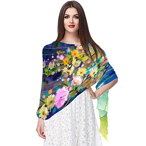 Efeu-Blumen im Baum Park Frühling Blume Schal Infinity Lightweight Long Sheer Wrap Shawl for Women