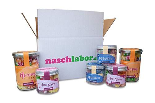 Office Survival Kit von Naschlabor - Der Süßigkeitenmix als Studentenfutter oder fürs Büro - Beruhige deine Nerven und die deiner Kollegen