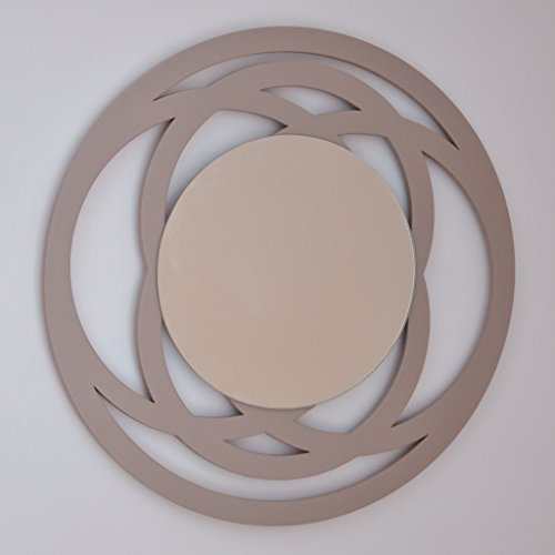 DECOHOGAR.SHOP Miroir Mural Rond - Petit Bague- 40 x 40 cm - Laqué Noir