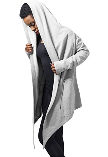 Urban Classics Damen Ladies Hooded Sweat Cardigan Cape, Grau (grey 111), Small