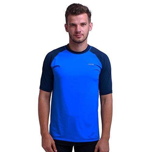 Herren Rash Vest Rashguard Kurzarm schwarz Schnorcheln Schwimmen Surfen Tops Tauchen Anzug Beach T-Shirt Shortsleeve