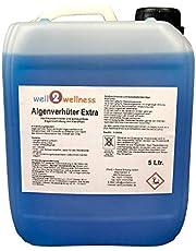 well2wellness Pool Prevenir Las Algas + Algicida Extra 'Blue' 5,0L - Alta Concentración + sin Espuma