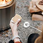 Solo Stove Stainless Steel Marshmallow Roasting Sticks for Fire Pits (Set of 4) with Case Great for Marshmallows and Hot…