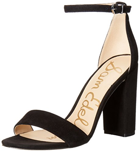 Sam Edelman Women's Yaro Classic Dress Sandal, Black Suede, 8.5 Medium US