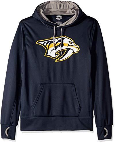 OTS NHL Nashville Predators Men's Hoodie Pullover, Logo, Medium