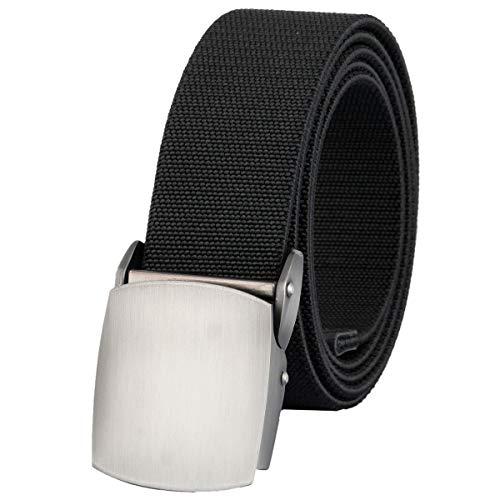 KYEYGWO Herren Gürtel Elastischer Stretchgürtel Nylon Gürtel mit Automatisch Schnalle 130 cm, Breite ca. 4 cm