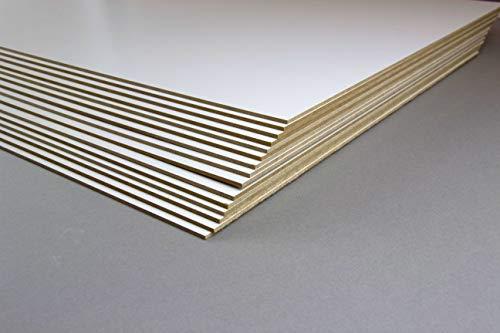 1a Bilderrahmen MDF 2,5 mm stark Holz Werkstoff Passgenauer Zuschnitt Wunschformat 80x120 cm Einseitig Weiss lackiert 1 Platte 120x80 cm