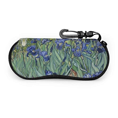 Estuche para gafas de Vincent Van Gogh 1889 Estuche para gafas de sol de neopreno con cremallera suave para gafas de sol