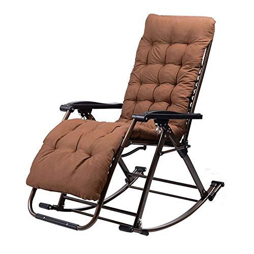 QIDI schommelstoel, lounge stoel, balkon lounge stoel, opvouwbaar geen noodzaak om te installeren volwassen lunch pauze dutje - zitten, liggen omlaag, schudden, drie gebruik