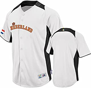VF Team Nederland Majestic 2013 Mens World Baseball Classic Home On Field Authentic White Jersey Adult Sizes