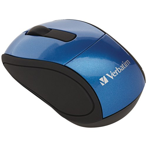 Verbatim 2.4G Wireless Mini Travel Optical Mouse with Nano Receiver for Mac and PC - Blue