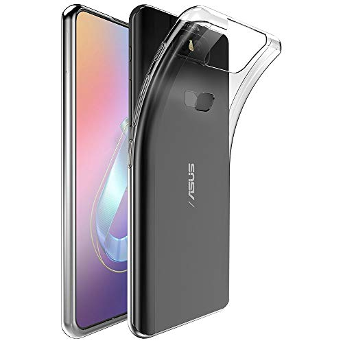 ebestStar - Funda Compatible con ASUS Zenfone 6 ZS630KL 6Z Carcasa Silicona, Protección Crystal Clear TPU Gel, Ultra Slim Case, Transparente [ZS630KL: 159.1 x 75.4 x 9.2mm, 6.4'']