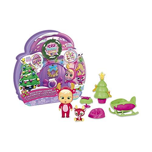 BEBÉS LLORONES LÁGRIMAS MÁGICAS Calendario de Adviento de Rosie | Calendario Navidad con muñeca exclusiva Rosie, su Mascota y 24 Accesorios - Muñeco regalo para niños y niñas +3 años