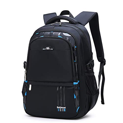 Unisex Backpack College Bookbag School Backpack Schoolbag Rucksack Casual Daypack for Sports Outdoor Travel Hiking Camping (School Backpack for Blue)