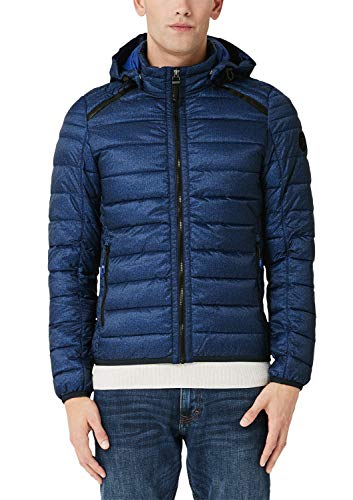 s.Oliver Herren 28.908.51.9002 Jacke, Blau (Blue 56a0), Large (Herstellergröße: L)