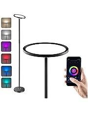 Anten LED Lámpara de Pie Regulable, WiFi Inteligente Luz de Pie Salon Multicolor Funciona Compatible Alexa/Google Home, 25W RGB Regulable y Blanco Cálido a Frío (lámpara de pie inteligente)