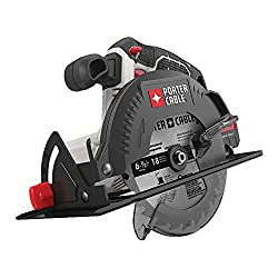 The PORTER-CABLE PCC660B battery circular saw comparison