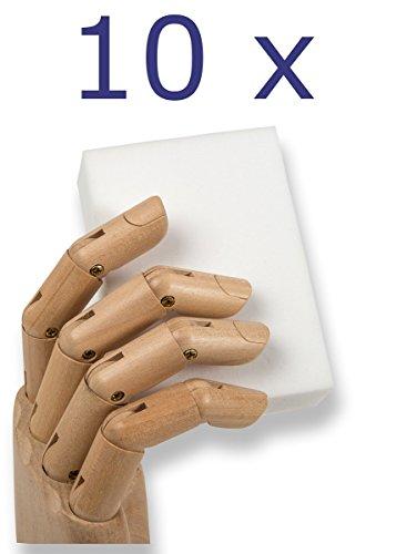 Radierschwamm Schmutzradierer XXL 10 stk 15x10x3cm Putzschwamm - für große Hände und große Einsätze