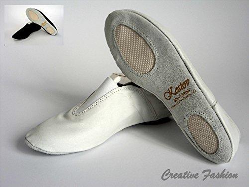 Kostov Sportswear Gymnastikschläppchen Wolke, Weiß Größe 32