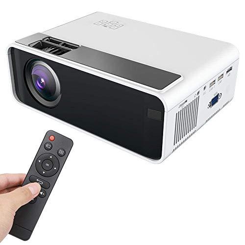 Mini caja proyector, mini proyector, proyector cine casa inteligente Full HD 1080P LED compatible HDMI, USB, VGA, AV, TF Proyectores video multimedia el hogar TV, PC, PS4, computadora portátil, teléf