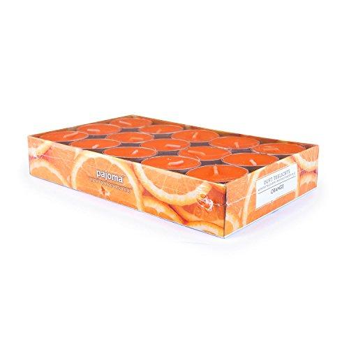 pajoma Duft Teelichter 30er Set Geschenk Set Lange Brenndauer Duft wählbar (Orange)