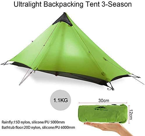 KIKILIVE New LanShan Outdoor Ultralight Camping Tent,1Person/2 Person Backpack tent Mesh...
