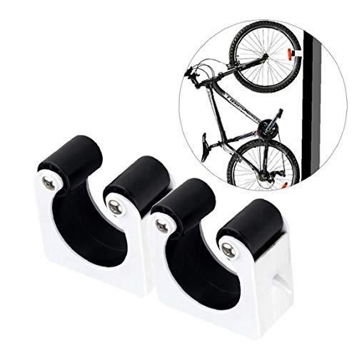 DierCosy Fahrrad-parken Buckle 2pcs Wandmontage Platzsparend MTB Haken Innen Garage Fahrradaufbewahrung Einhängegestell