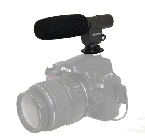 Polaroid Pro Video Condenser Shotgun Microphone For The Canon Digital EOS Rebel T4i (650D), T3i (600D), T1i (500D), T2i (550D), XSI (450D), XS (1000D), XTI (400D), XT (350D), 1D C, 60D, 60Da, 50D, 40D, 30D, 20D, 10D, 5D, 1D X, 1D, 5D Mark 2, 5D Mark 3, 7D Digital SLR Cameras