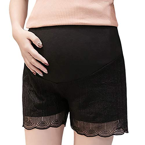 Damen Umstandsjeans Destroyed Jeanshose Stretch Jeans Umstandsshorts Mutterschaft Schwangere Umstandsmode Casual Modisch Leggings Cargo Shorts Hohe Taille Latzhose Maternity Kurze Hose