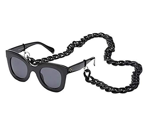 Wanrane Simple Retro Glasses Chain String Eyeglass Strap Holder Eyewear Retainer For Universal Glasses(Black)