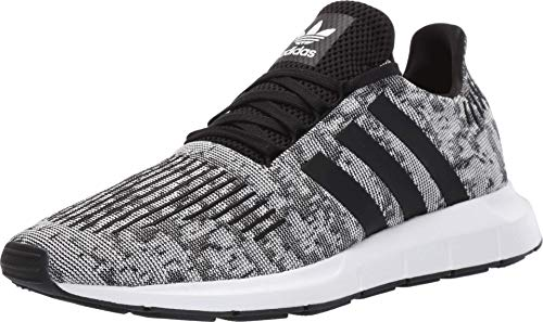 adidas Originals Mens Swift Run Lace Up Sneakers Shoes Casual - Black,Grey,White - Size 8.5 D