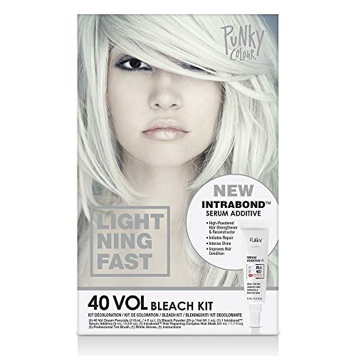 Punky Intrabond 40 Vol Bleach Kit, Fast Bleaching Action for Brighter Hair