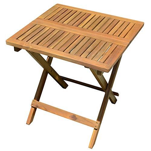 Unbekannt Außen Bistro Tisch Akazie braun Garten Balkon Möbel Holz geölt Teak-Look Harms 985239