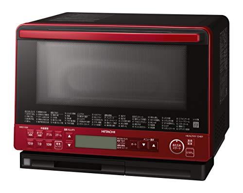 日立 ボイラー式過熱水蒸気 オーブンレンジ ヘルシーシェフ 大容量31L トリプル重量センサー MRO-VS8 R レッド