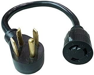 Parkworld 886368 Adapter Cord NEMA 14-30P Male to L6-30R Female, 30A, 250V, 1.5'