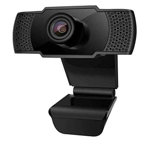 2020 Webcam 1080p HD Computer Camera, USB 2.0 Desktop Laptop Computer Web Camera with Auto Light Correction, Plug and Play, for Windows Mac OS, for Video Streaming, Conference, Gaming, (Dark Black)